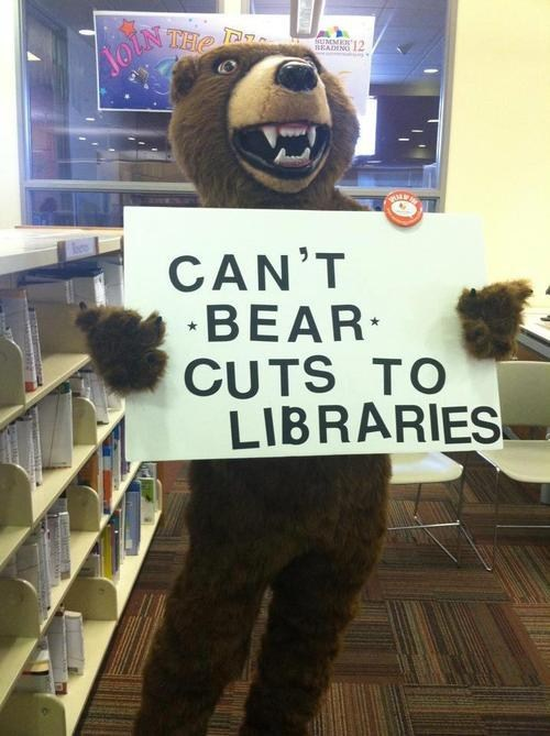 unbearable libraries reading puns bear funny