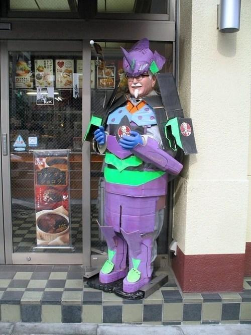 wtf neon genesis evangelion colonel sanders Japan funny - 7459366912