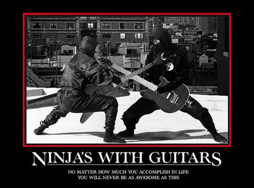 guitar,showdown,ninjas,funny