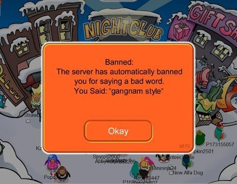 bad words banned club penguin gangnam style funny - 7459557376