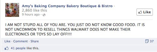 Amy's Baking company defending their business model