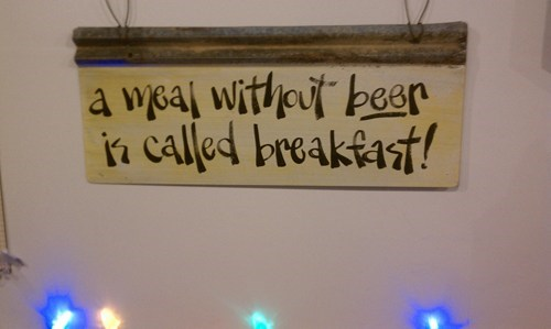 beer sign breakfast funny