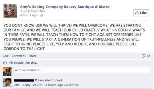 Amy's Baking company all caps cursing of Gordon Ramsay