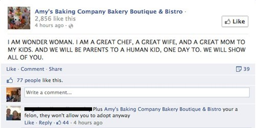 Amy's Baking company tells us she is Wonder Woman.
