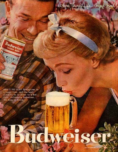 drink beer advertisement old timey funny