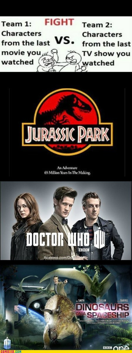 doctor who,jurassic park,time travel,funny,dinosaurs