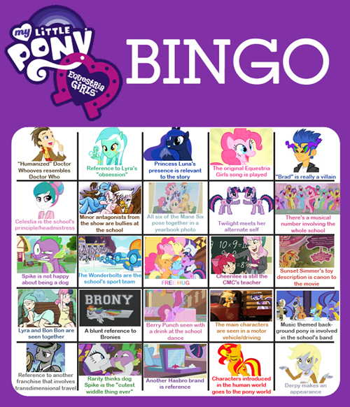 equestria girls predictions funny bingo - 7459803392