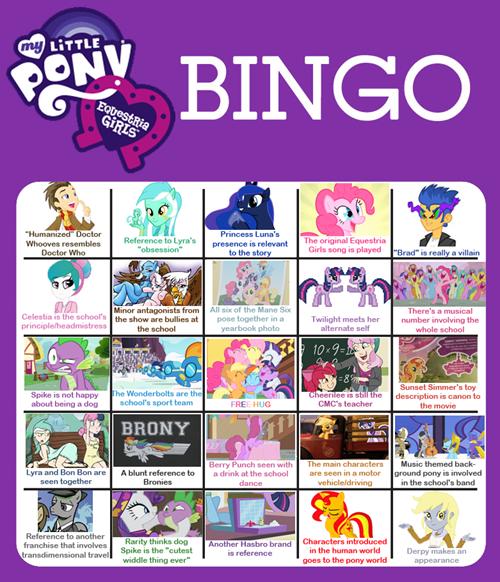 equestria girls predictions funny bingo - 7459803392