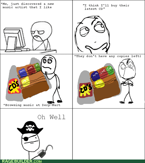 cds,piracy,pirating,poker face,buying music,the pirate bay