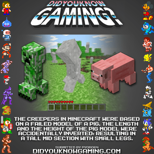 did you know gaming minecraft creepers funny - 7459928320