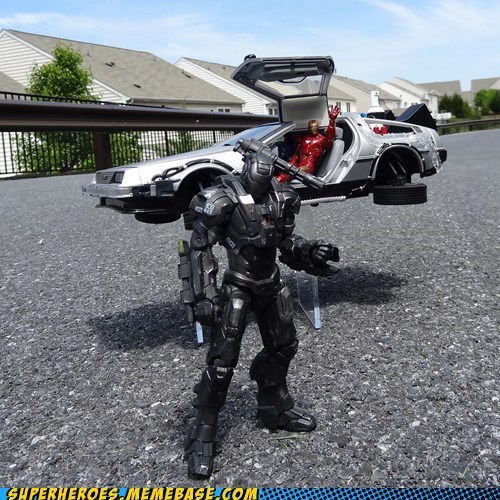back to the future warmachine iron man funny