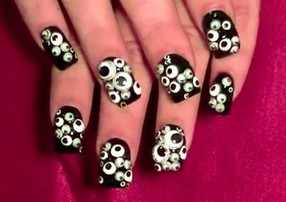 googly eyes,nail art