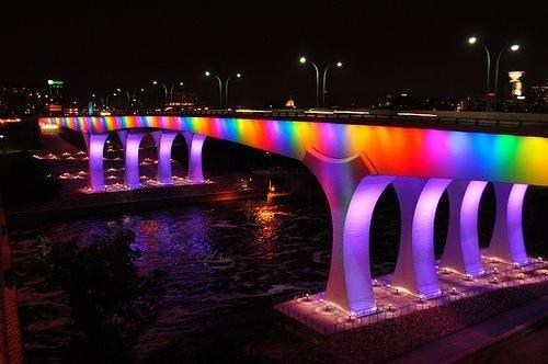 design,lights lgbtq,bridge