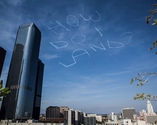 clever skywriting plane message funny g rated win - 7460395520