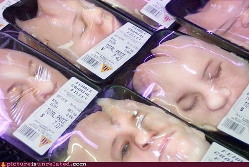 wtf creepy funny faces meat - 7460872192