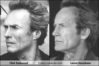 totally looks like Clint Eastwood lance henriksen funny
