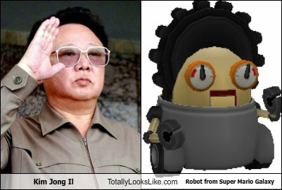 totally looks like robots super mario Kim Jong-Il funny