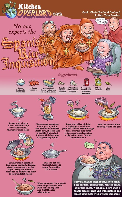 No one expects...The Spanish Rice Inquisition!