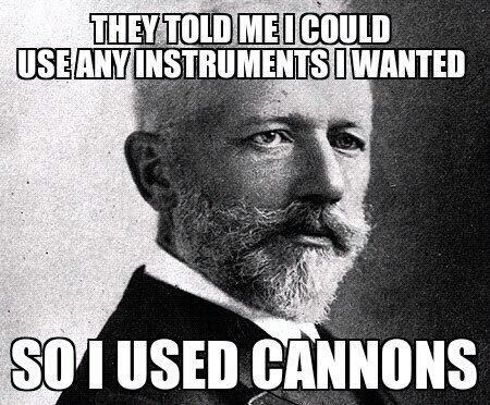 Music,1812 overture,cannons,funny,Tchaikovsky