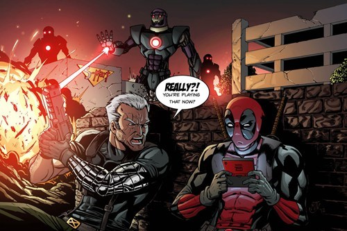 bad idea deadpool off the page video games funny - 7462345728