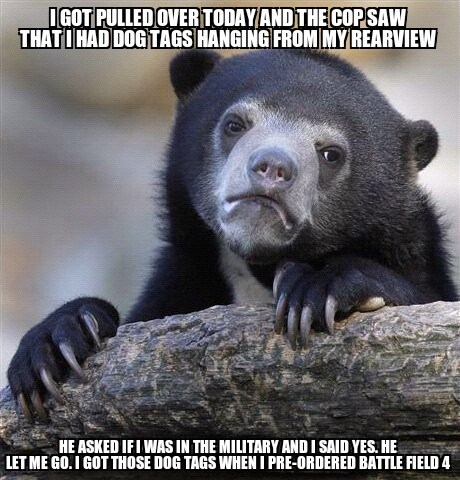 Battlefield 4 Memes dog tags Confession Bear funny - 7462566656