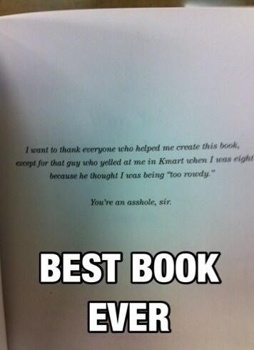 kmart,book dedication,dedication,books,best book ever,funny
