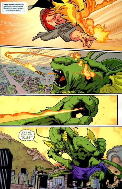 fin fang foom wtf pants off the page funny - 7462628864