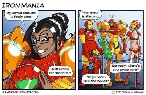 cosplay samus Metroid comics iron man funny - 7462738688