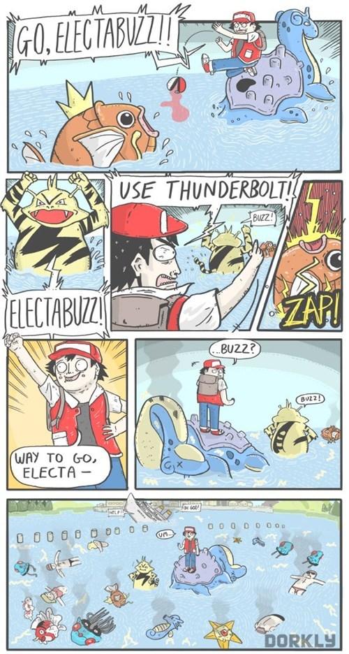 Pokémon,dorkly,comics,electabuzz,funny