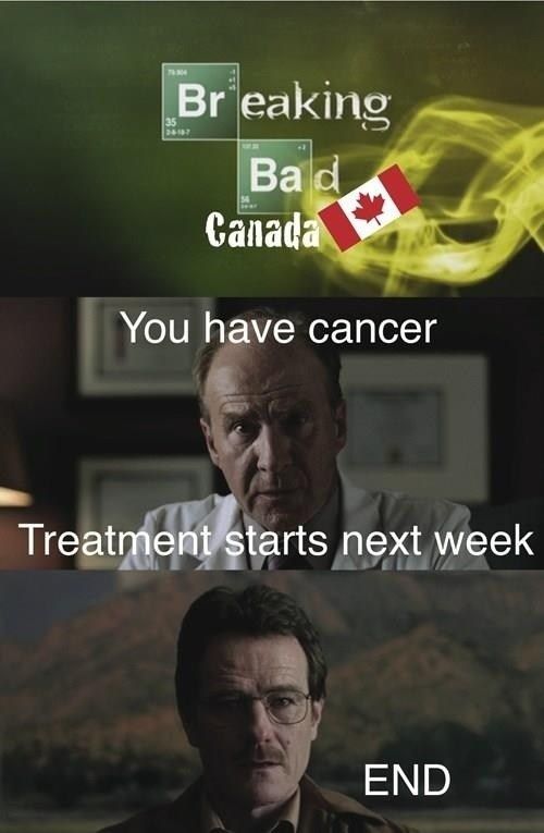 Canada,universal healthcare,breaking bad,funny