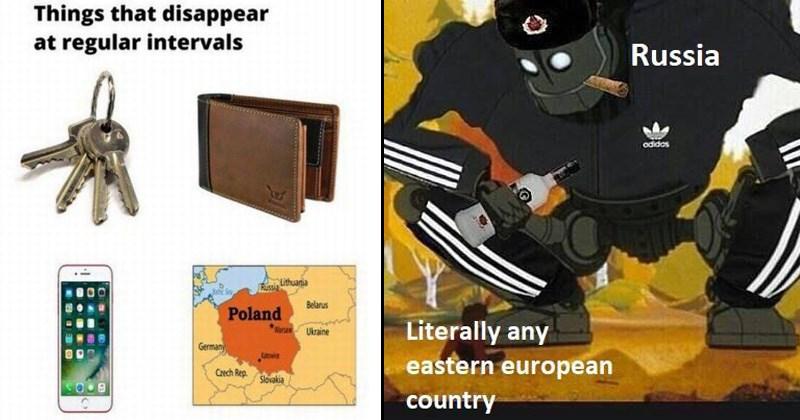 history memes, iron giant slav squatting in adidas tracksuit