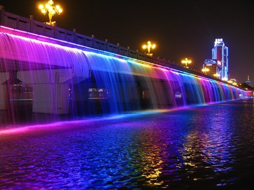 lights,design,pretty colors,bridge