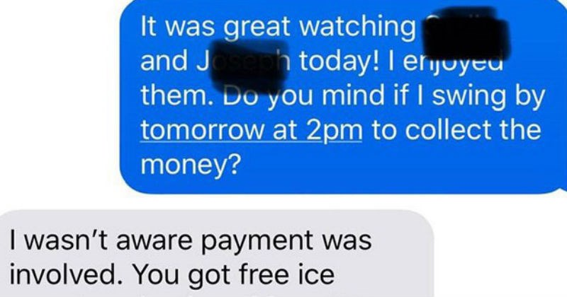 rude mom refuses to pay babysitter