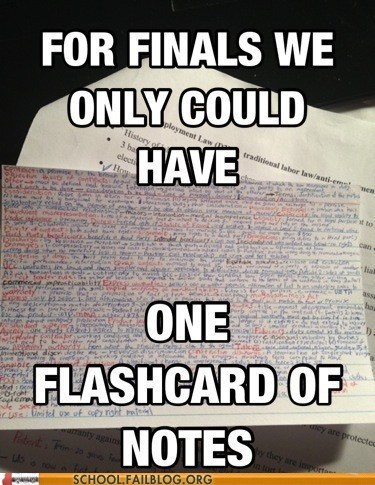 crazy finals flashcard notes funny g rated School of FAIL - 7464046592