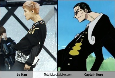 lu han,anime,captain kuro,totally looks like,funny