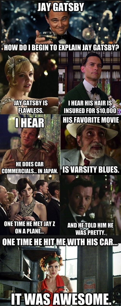 movies image macros the great gatsby funny - 7464762624