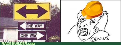 one way street genius funny - 7465416192