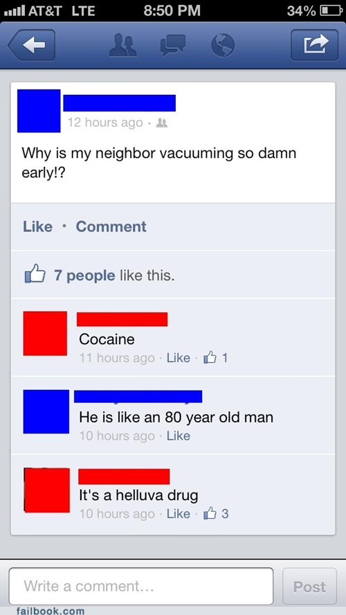 drugs coke blow vacuuming failbook g rated