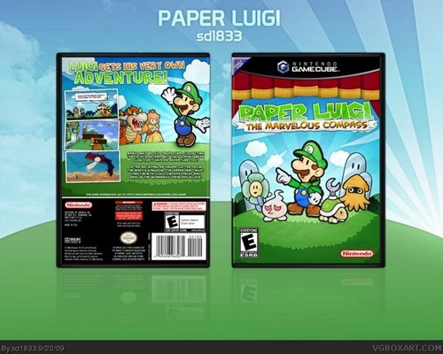 art,box art,awesome,funny,paper luigi
