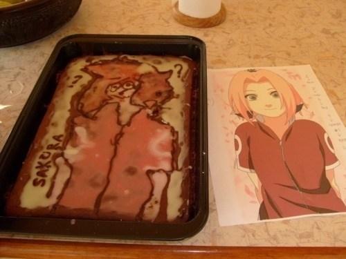cake,anime,Sakura,Nailed It