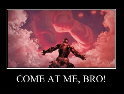 come at me bro asuras-wrath video games funny