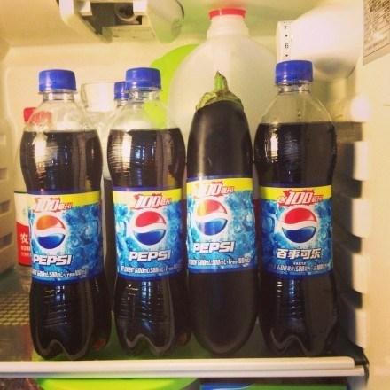 pepsi refrigerator eggplant funny - 7466475776