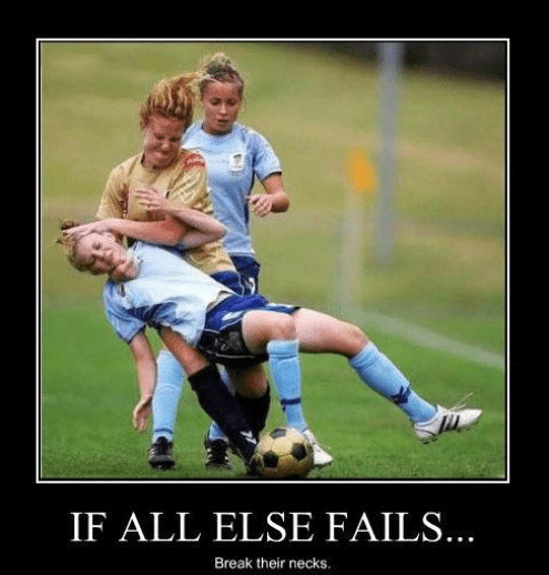 girls,soccer,break neck,rough,funny