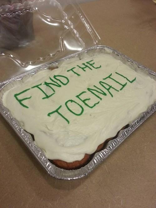 cake,toenail,funny