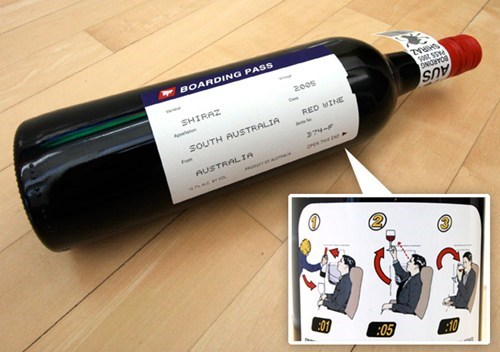 drunk airplane boarding pass - 7466635520