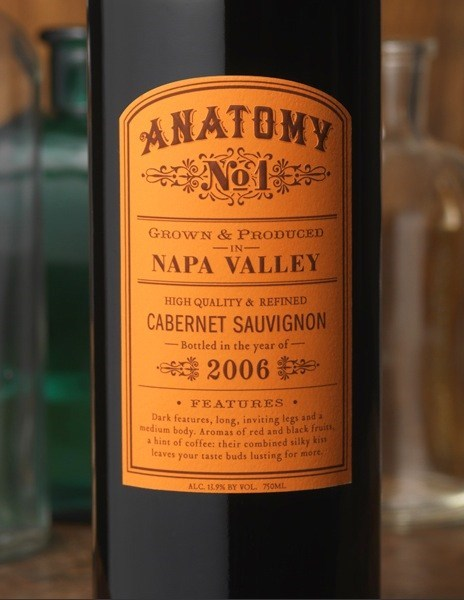 anatomy wine label funny - 7466637824