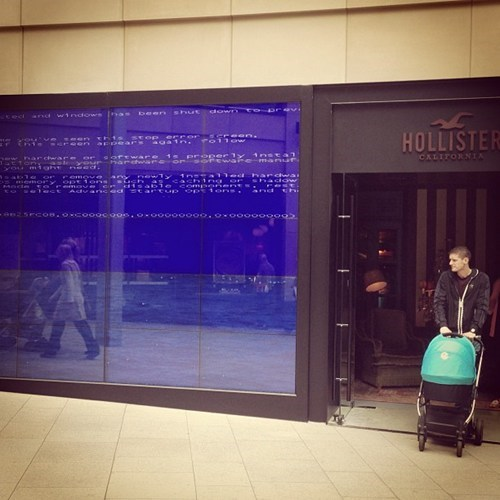 blue screen fatal error hollister storefront funny monday thru friday g rated - 7466642688