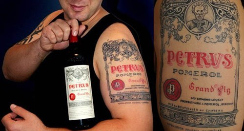 petrus tattoo wine brand funny - 7466714880