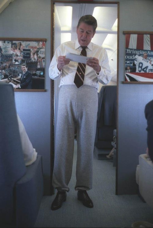 reagan wtf sweatpants funny - 7466772480