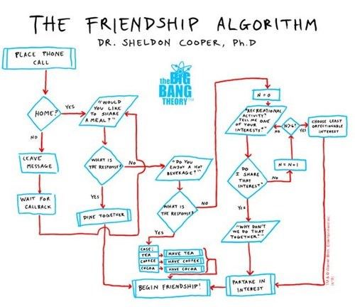 friends the big bang theory flowcharts - 7466908416